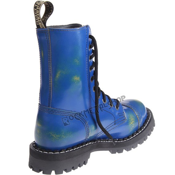 glany STEEL - YELLOW / BLUE (10 dziurek)
