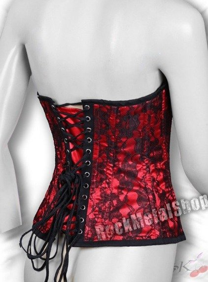gorset MOLLFLANDER RED SATIN