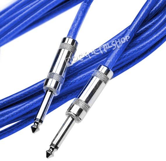 kabel gitarowy ACOUSTICS 6m jack prosty-prosty / niebieski