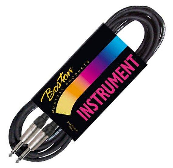 kabel instrumentalny BOSTON 1m JACK prosty/prosty 6,3mm STEREO