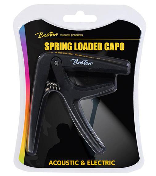 kapodaster do gitary elektrycznej / akustycznej BOSTON BC-85-BK czarny
