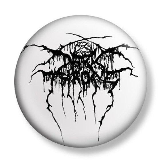 kapsel DARKTHRONE - LOGO BLACK ON WHITE
