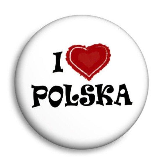 kapsel I LOVE POLSKA Ø25mm