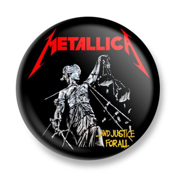 kapsel METALLICA - AND THE JUSTICE FOR ALL BLACK