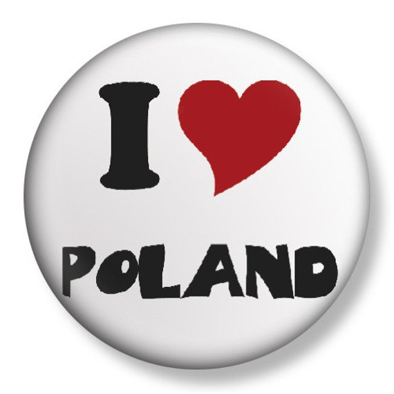 kapsel średni I LOVE POLAND Ø38mm
