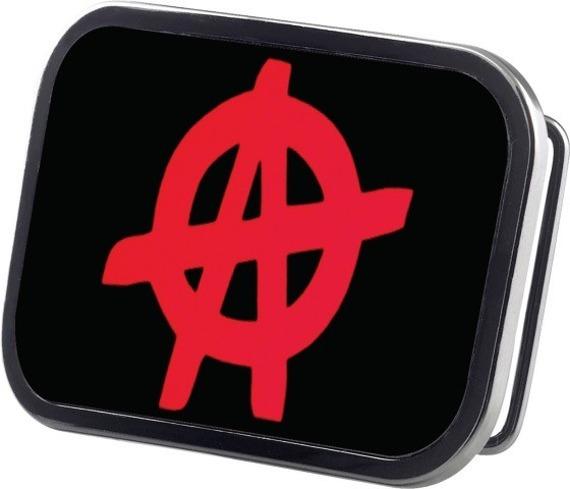 klamra do pasa ANARCHY BLACK/RED
