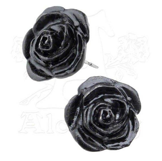 kolczyki BLACK ROSE (PARA)