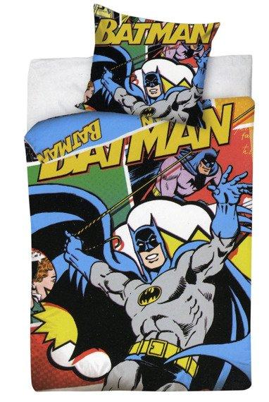komplet pościelowy BATMAN, kołdra (160*200) + poduszka (70*80)