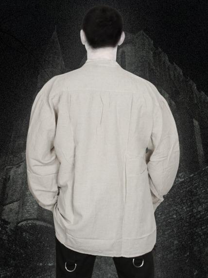 koszula CHŁOPSKA LNIANA KREMOWA (4805)