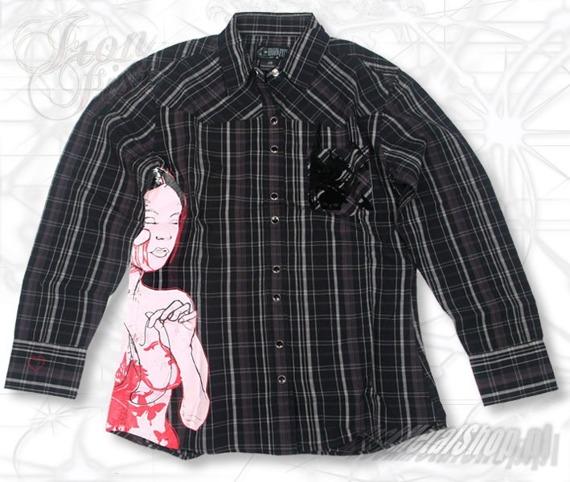 koszula damska  IRON FIST - STITCH (BLACK)