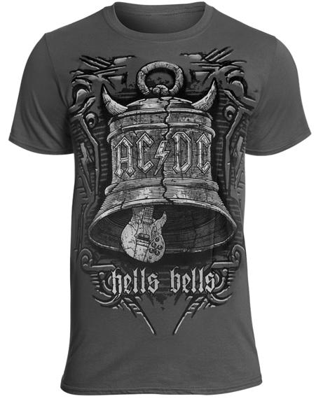 koszulka AC/DC - BIG BELLS szara