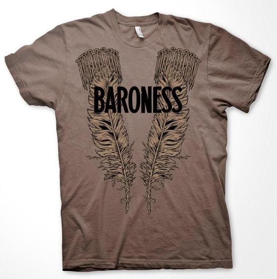 koszulka BARONESS - CHESTNUT FEATHER AND NAILS