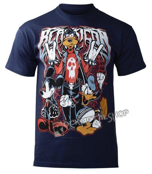 koszulka BLACK ICON - MOUSE, DUCK AND DOG (MICON111 STEEL BLUE)