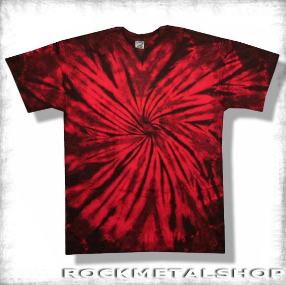 koszulka BLACK RED MIX barwiona