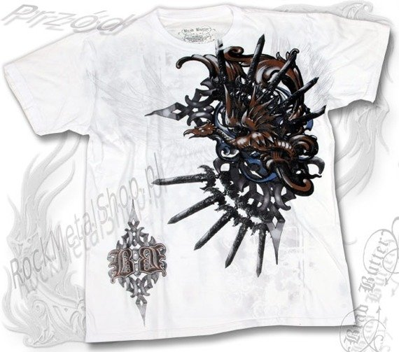 koszulka BRAD BUTTER (WHITE) (BBM1565)