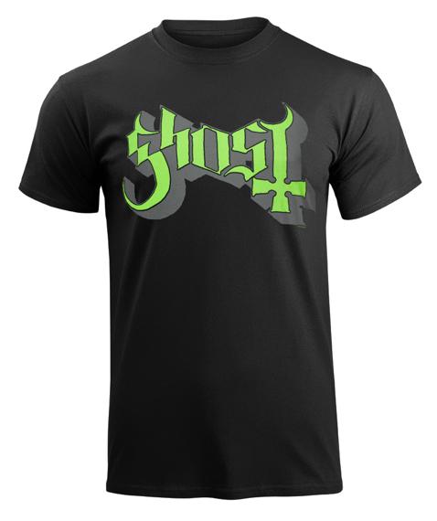 koszulka GHOST - GREEN GREY KEYLINE LOGO