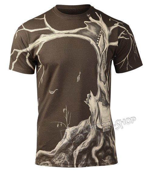 koszulka GUITAR TREE brązowa