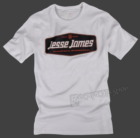 koszulka JESSE JAMES - STURDY LOGO biała