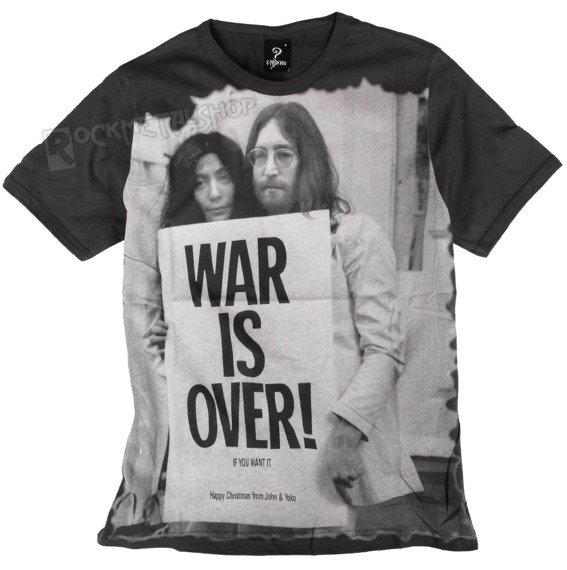 koszulka LENNON - WAR IS OVER ciemnoszara