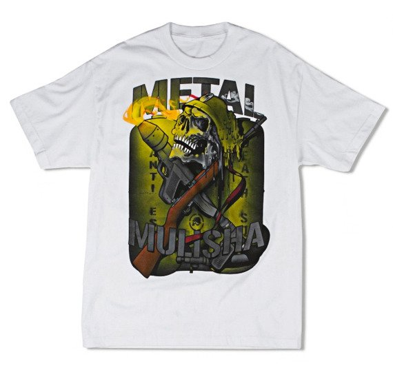koszulka METAL MULISHA - FLAME TORCH biała