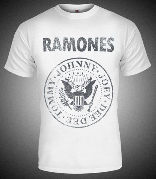 koszulka RAMONES - TOMMY, JOHNNY, JOEY, DEEDEE biała