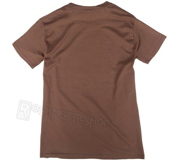 koszulka ROLLING STONES - TONGUE & STARS brązowa