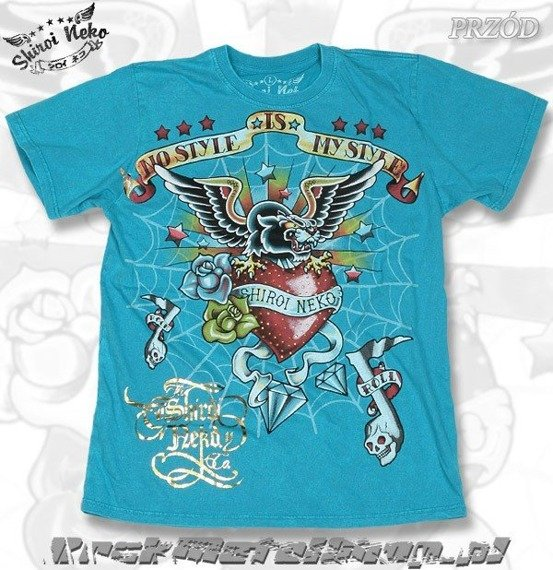 koszulka SHIROI NEKO - ROCK SPIRIT (BLUE)