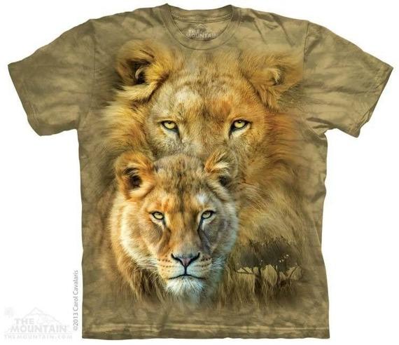 koszulka THE MOUNTAIN - AFRICAN ROYALTY, barwiona
