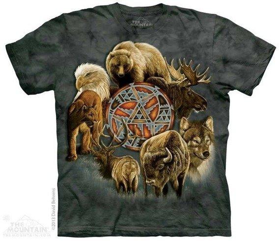 koszulka THE MOUNTAIN - ANIMAL SPIRIT CIRCLE, barwiona