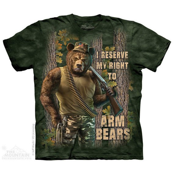 koszulka THE MOUNTAIN - ARM BEARS, barwiona