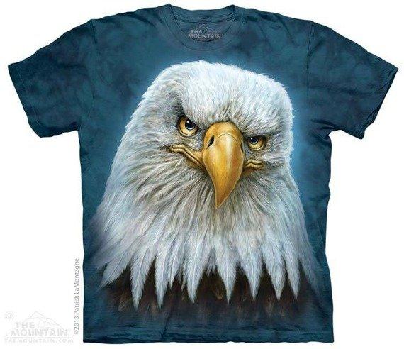 koszulka THE MOUNTAIN - BALD EAGLE TOTEM, barwiona