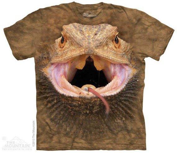 koszulka THE MOUNTAIN - BEARDED DRAGON, barwiona