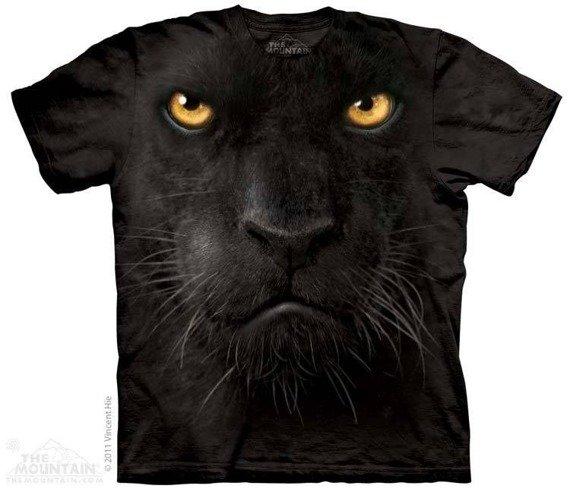 koszulka THE MOUNTAIN - BLACK PANTHER FACE, barwiona