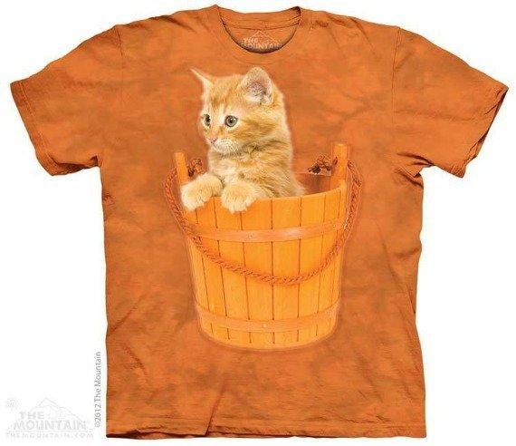 koszulka THE MOUNTAIN - BUCKET KITTEN, barwiona