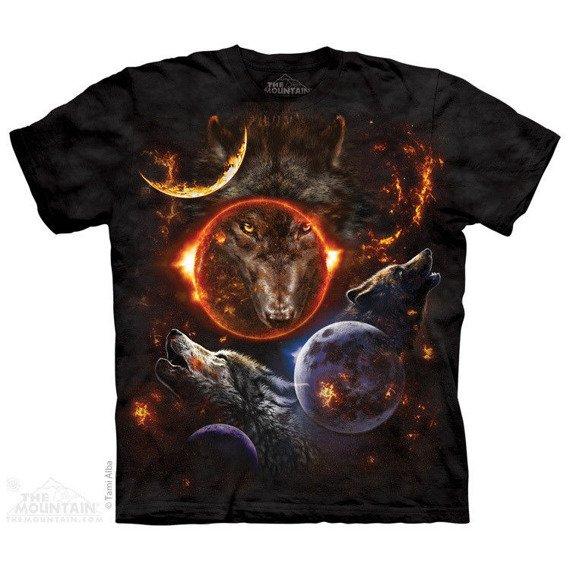 koszulka THE MOUNTAIN - COSMIC WOLVES, barwiona