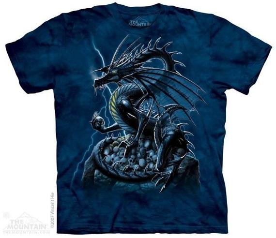 koszulka THE MOUNTAIN - SKULL DRAGON, barwiona