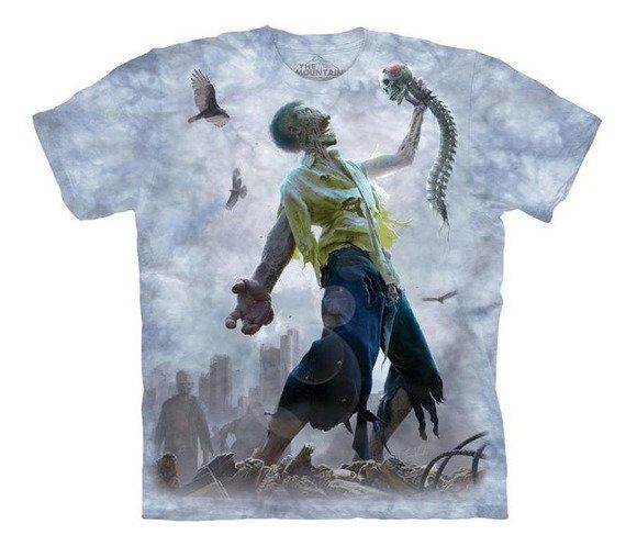 koszulka THE MOUNTAIN - ZOMBIE SCRAPS, barwiona