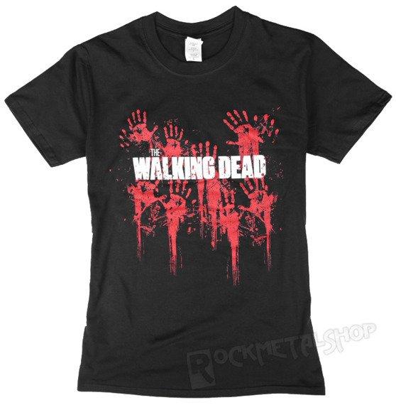 koszulka THE WALKING DEAD - BLOODY HANDS LOGO