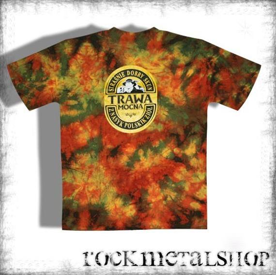 koszulka TRAWA MOCNA barwiona