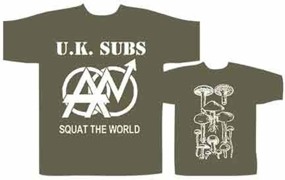 koszulka  U.K.SUBS - SQUAT THE WORLD