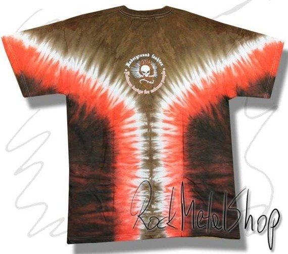 koszulka UNDERGROUND FASHION SKULL barwiona