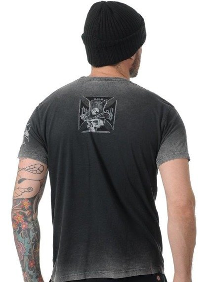 koszulka WEST COAST CHOPPERS - CASH ONLY TEE BLACK/GREY
