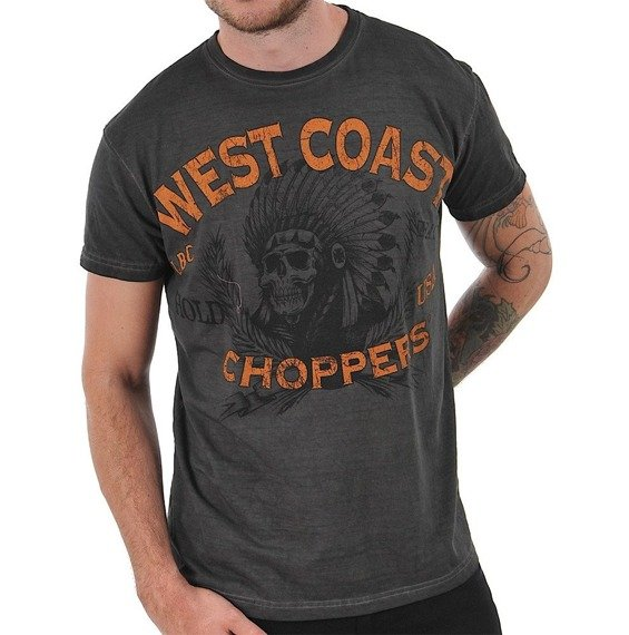 koszulka WEST COAST CHOPPERS - HOLD FAST antracyt