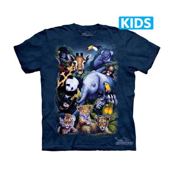 koszulka dziecięca THE MOUNTAIN - A RARE OCCASION KIDS, barwiona