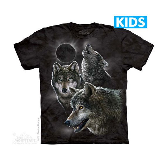 koszulka dziecięca THE MOUNTAIN - ECLIPSE WOLVES, barwiona