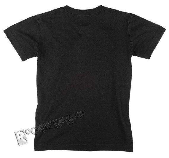 koszulka junior/dziecięca KULT - BIAŁE LOGO czarna