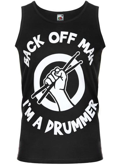 koszulka na ramiączkach BACK OFF MAN, I'M A DRUMMER