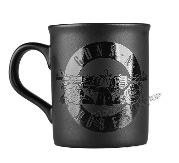 kubek GUNS N´ ROSES - CIRCLE LOGO BLACK MATT