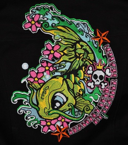 kurtka damska z kapturem LEATHER HEAVEN - KOI FISH