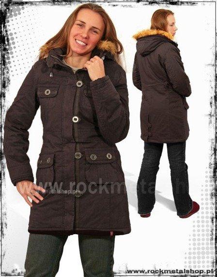 """kurtka jesienno-zimowa """"HBH"""" kolor ciemny brąz"""
